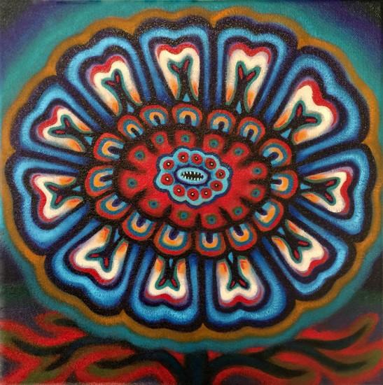 """NAVAJO SUNSET, Oil on Canvas, 12 x 12"""""""
