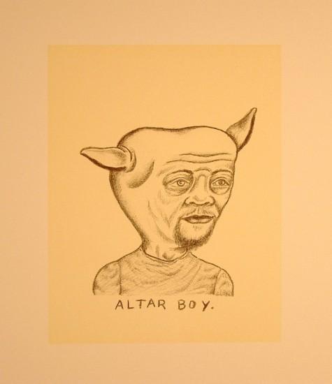 "ALTAR BOY, Lithograph, image 9 x 7"" paper 19 1/2 x 15 1/2"""