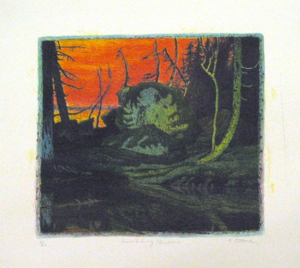 "KASAKOGWOG SHORELINE, Lithograph, 15 x 16 1/2"""