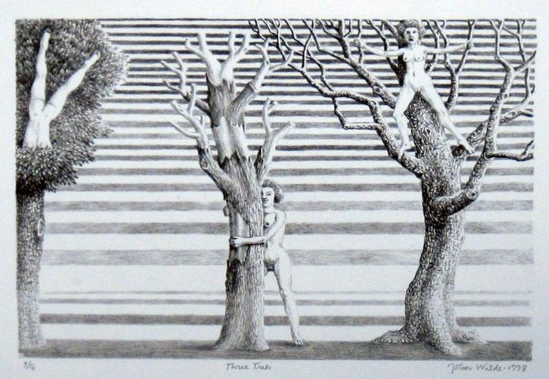 "THREE TREES, Etching, 14 x 18"", Ed. 9/16"