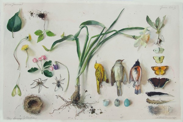 Katie Musolff, MY SPRING COLLECTION, Watercolor on Paper, 31 x 23""