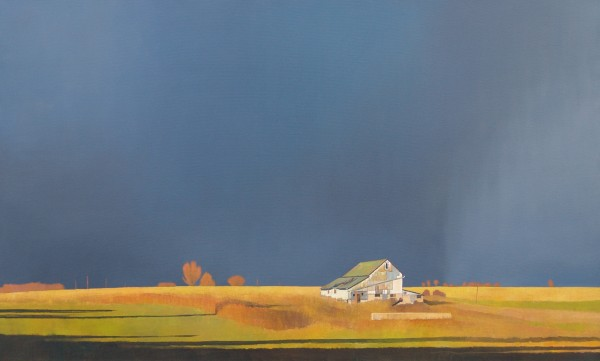 Andy Fletcher, FRANKVILLE, Oil on Canvas, 30 x 48""