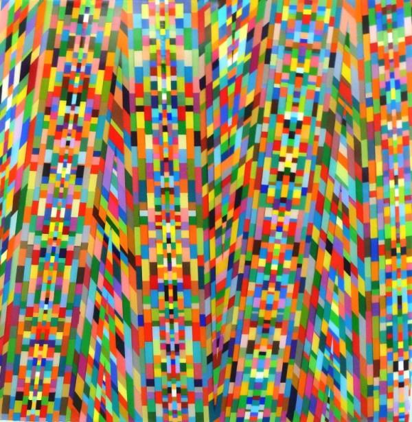 "Mark Ottens, SMEW, Acrylic on Panel, 12 x 12"""