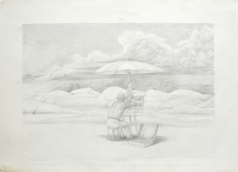 THE LECHEROUS LANDSCAPE, Pencil on Strathmore, 22 x 30""