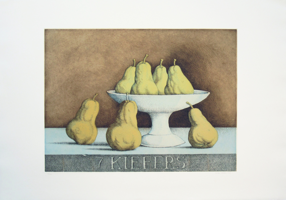 "7 KIEFERS, 1987, Color Etching on Paper, 22 1/4 x 30"", Edition of 100"