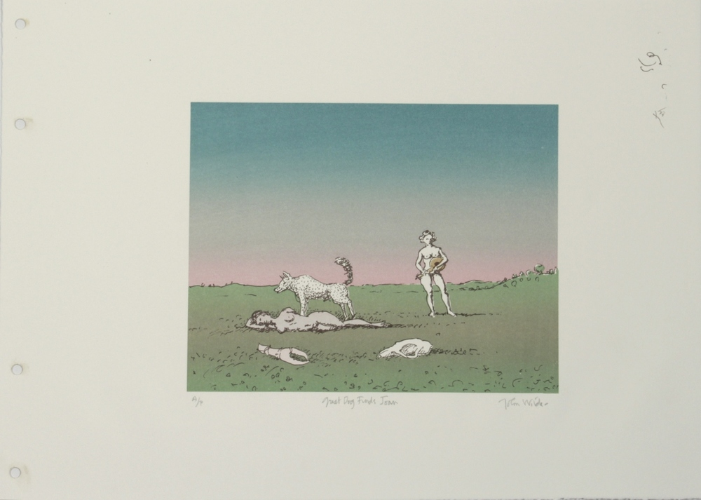 "GREAT DOG FINDS JOAN, 1991, Color Lithograph, 14 x 19"", AP"