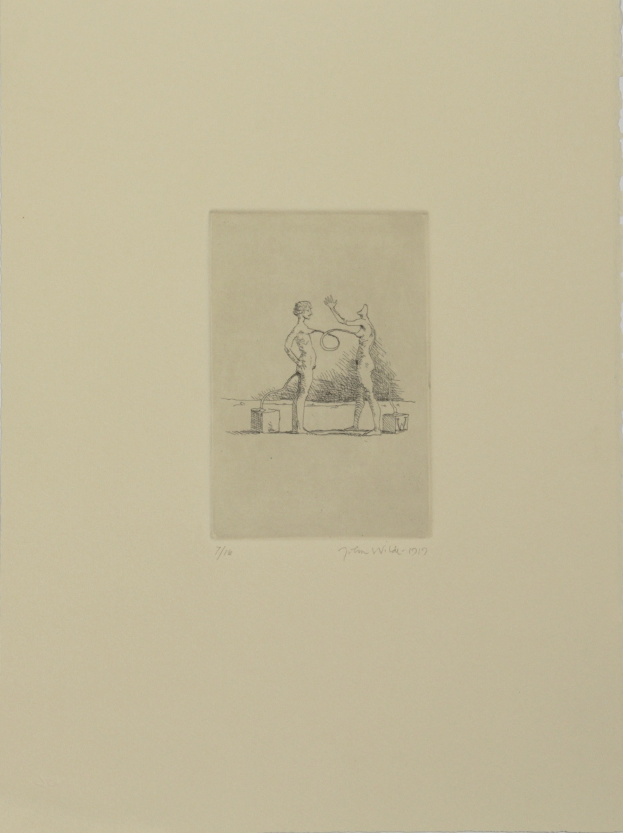"J AND J CONNECTED, 1991, Etching on Paper, 15 x 11"", Ed. 7/16, 11/16, 13/16, 15/16, and AP's"