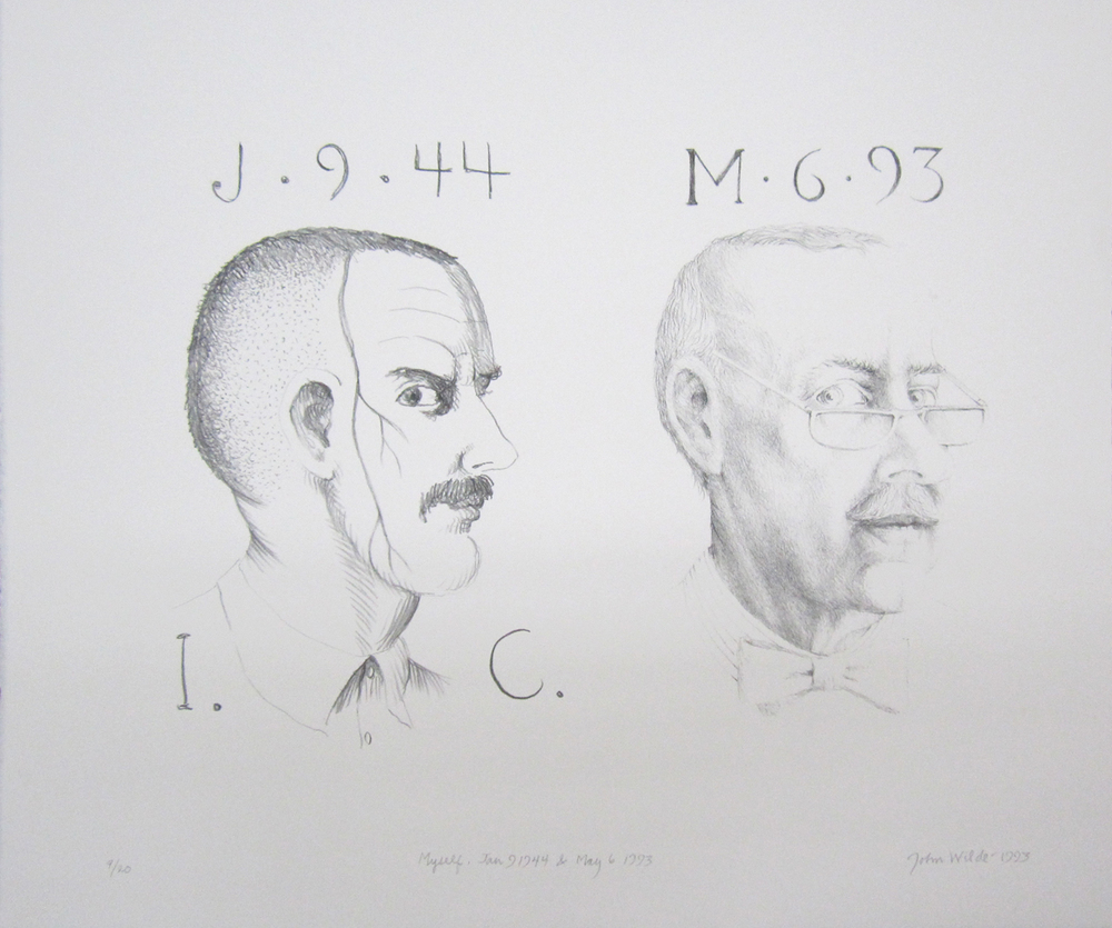 "MYSELF, JAN. 9, 1944 AND MAY 6, 1993, 1993, lithograph, 14 x 16 1/2"", Ed. 9/20"