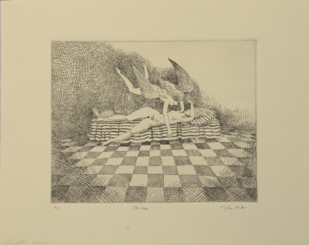 "THE KISS, 1991, lithograph, 14 x 18"", Ed. 9/20 and AP's"