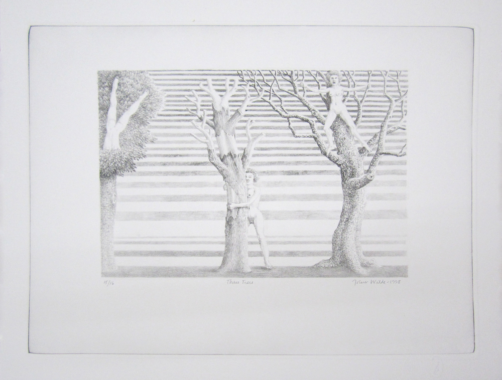"THREE TREES, 1998, lithograph, 14 x 18"", Ed. 1/16, 9/16, 13/16, and 15/16"