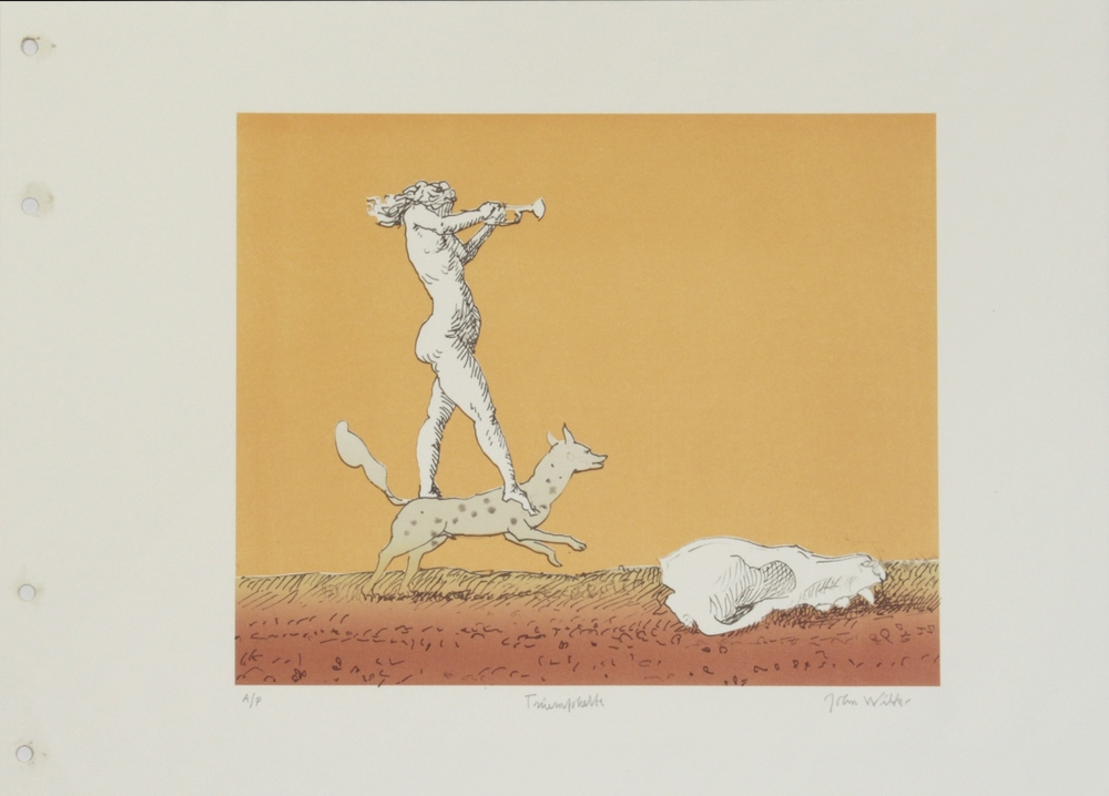 "TRIUMPHETTE, Color Lithograph on Paper, 14 x 19"", AP"