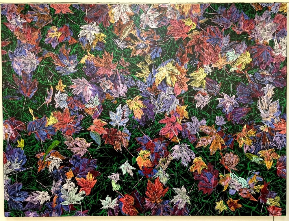 Jan Serr, Leaves and Branches, 36x48 inches, oil on linen - in progress
