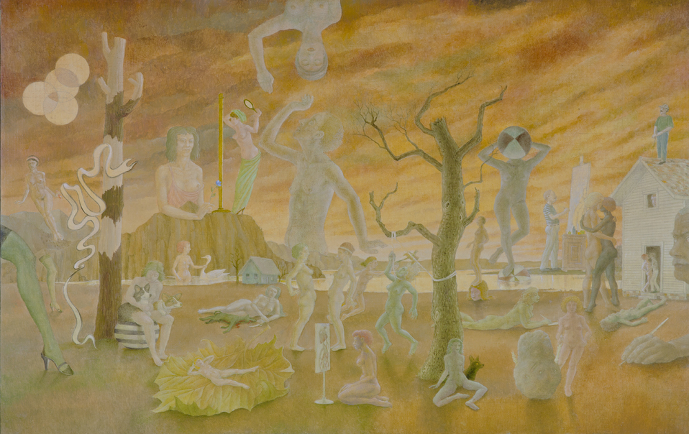 """EVENTIDE AT THE DUCHESS, 2005, Oil on Canvas, 27 1/4 x 41 1/4"""""""