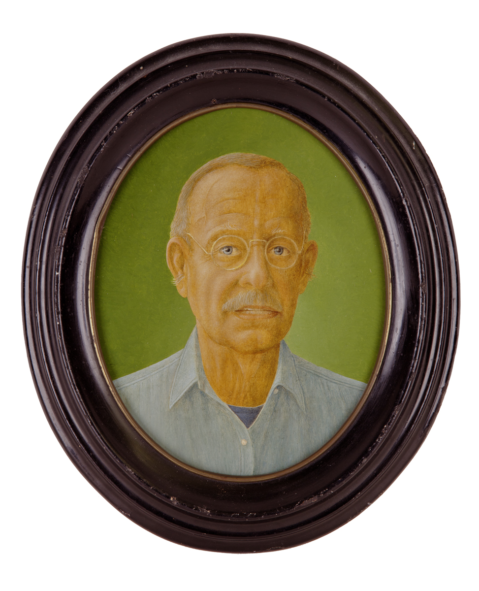 MYSELF AE 70, 1990, Oil on 8-Sided Panel, 7 1/2 x 6 1/2""