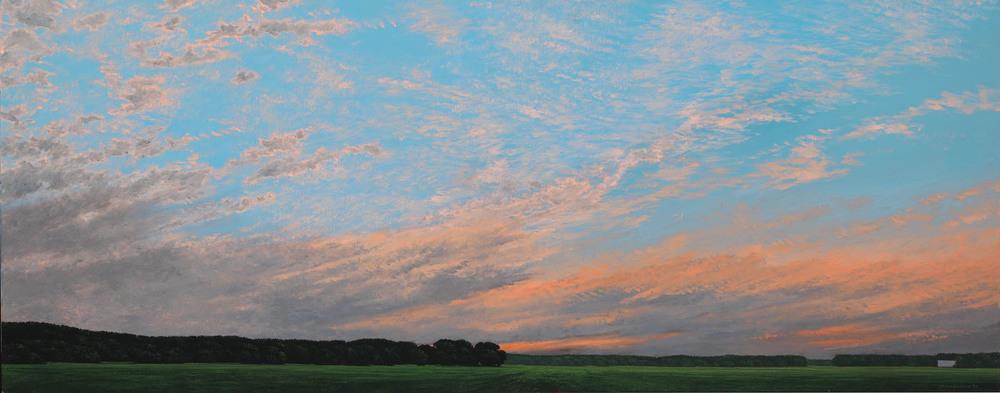 Keith Jacobshagen, AUGUST CICADAS, 18x46 inches, oil on canvas
