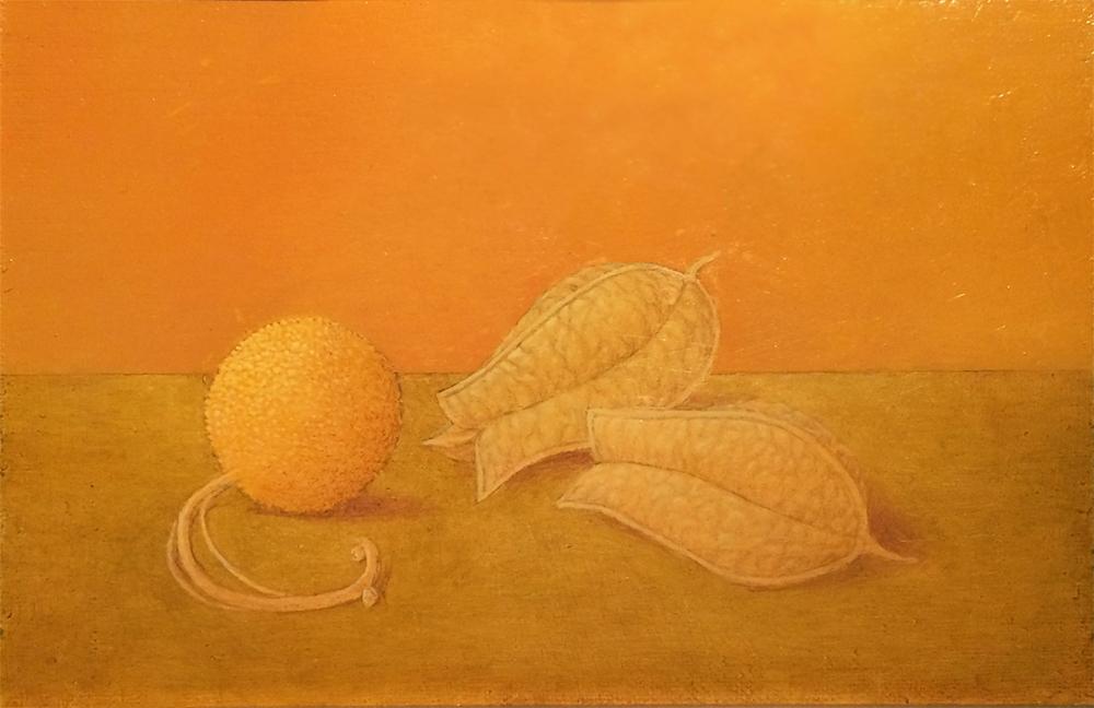"SYCAMORE PLATANUS OCCIDENTALIS, 2003, Oil on Panel, 5 1/4 x 8"""