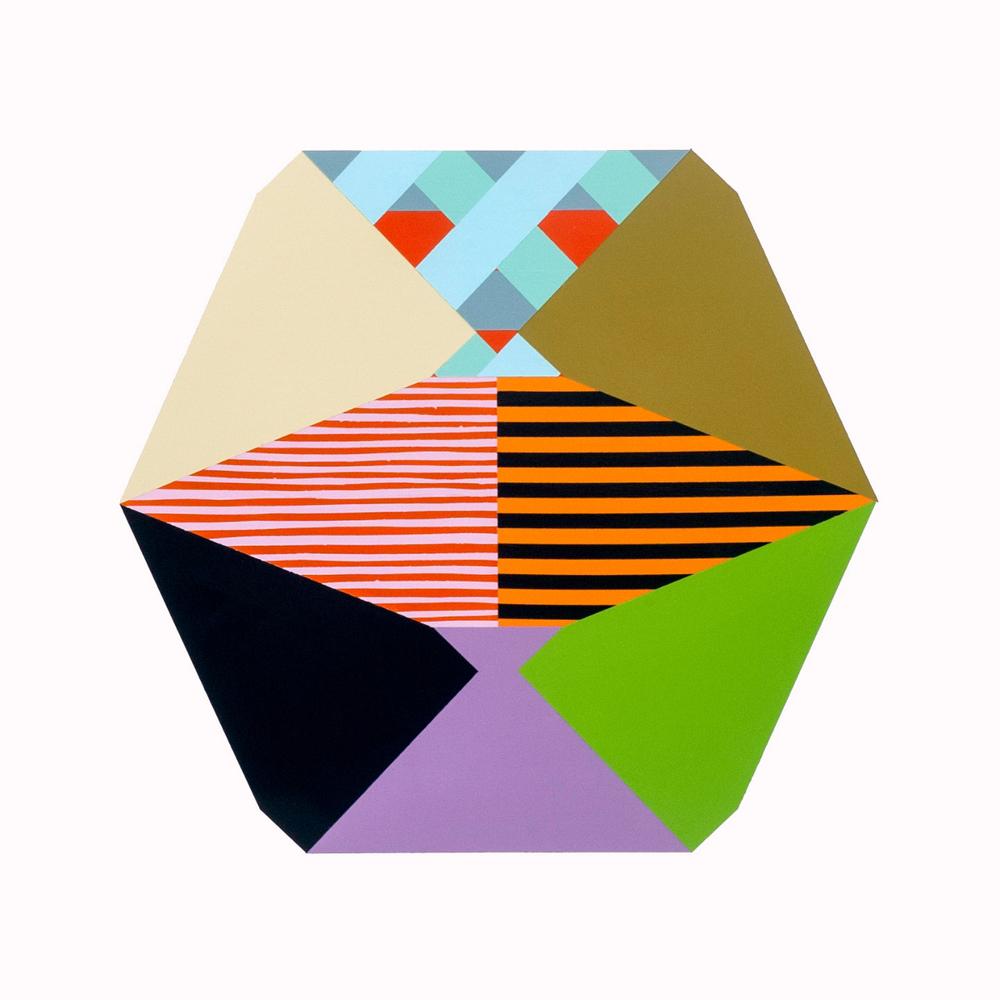 "Ben Grant, ESTRAGON'S SEMAPHORE #1, Acrylic on Paper, 18 x 20"""