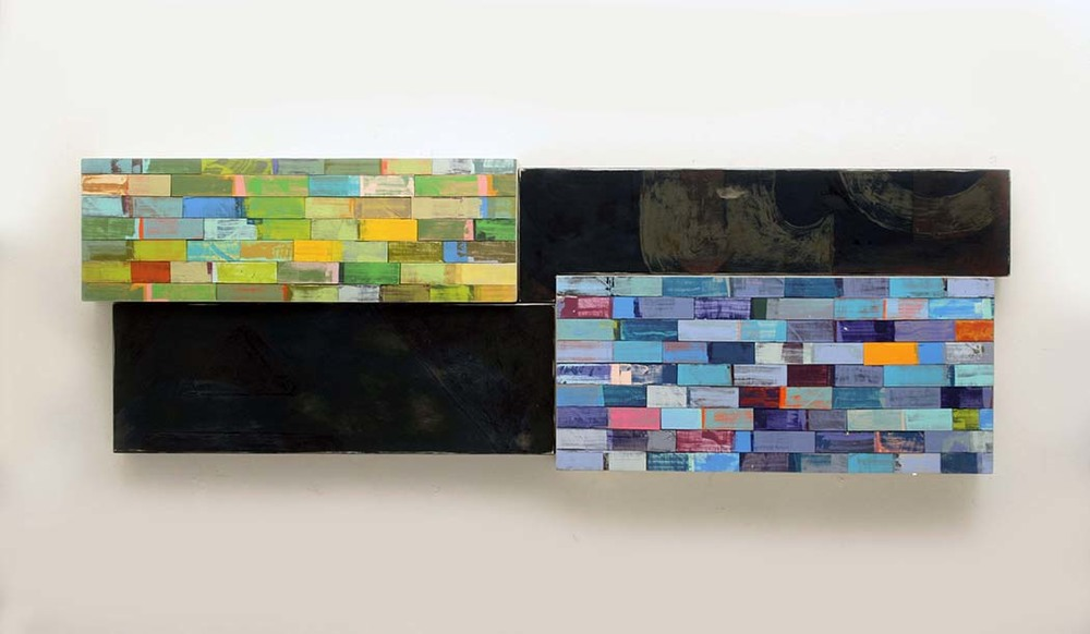 Richard Taylor, EXCAVATION - SKY, 21 x 60.5 x 4 inches, aluminum, pine, enamel, varnish