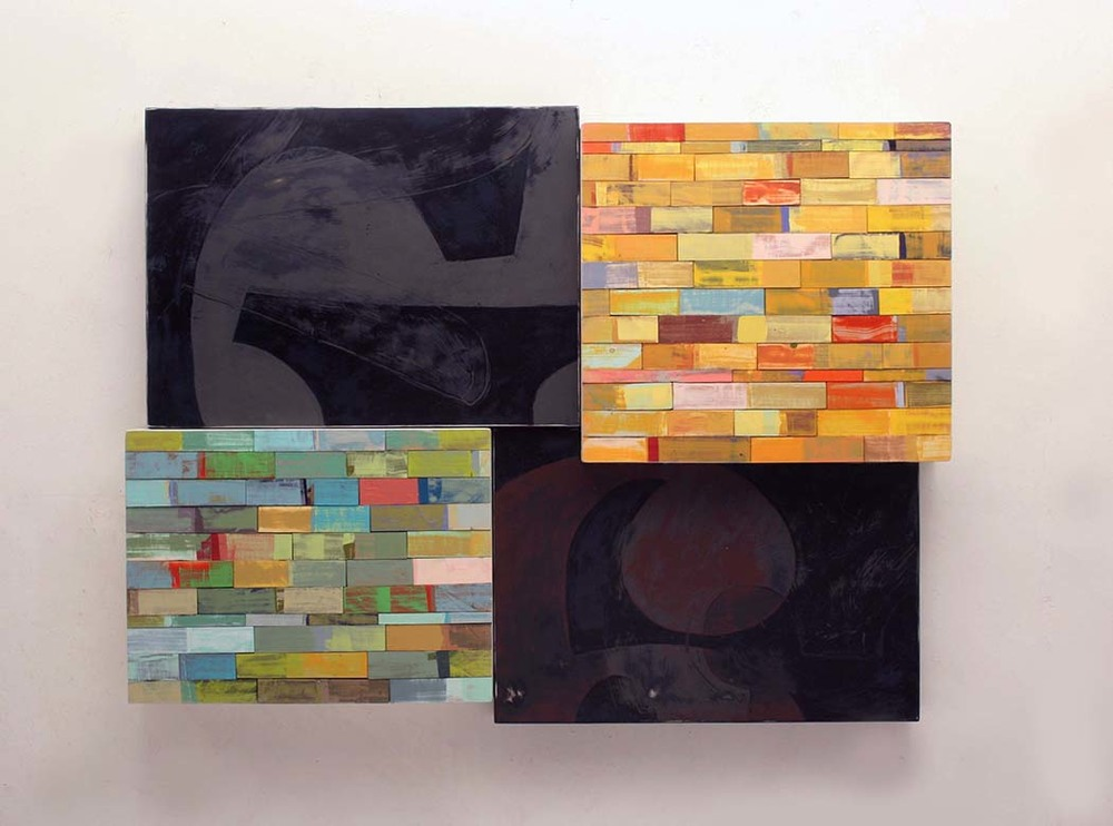 Richard Taylor, EXCAVATION - VALLEY, 33 x 43.5 x 4 inches, aluminum, pine, enamel, varnish