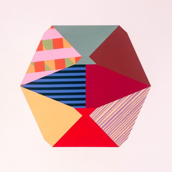 "Ben Grant, ESTRAGON'S SEMAPHORE #2, Acrylic on Paper, 18 x 20"""