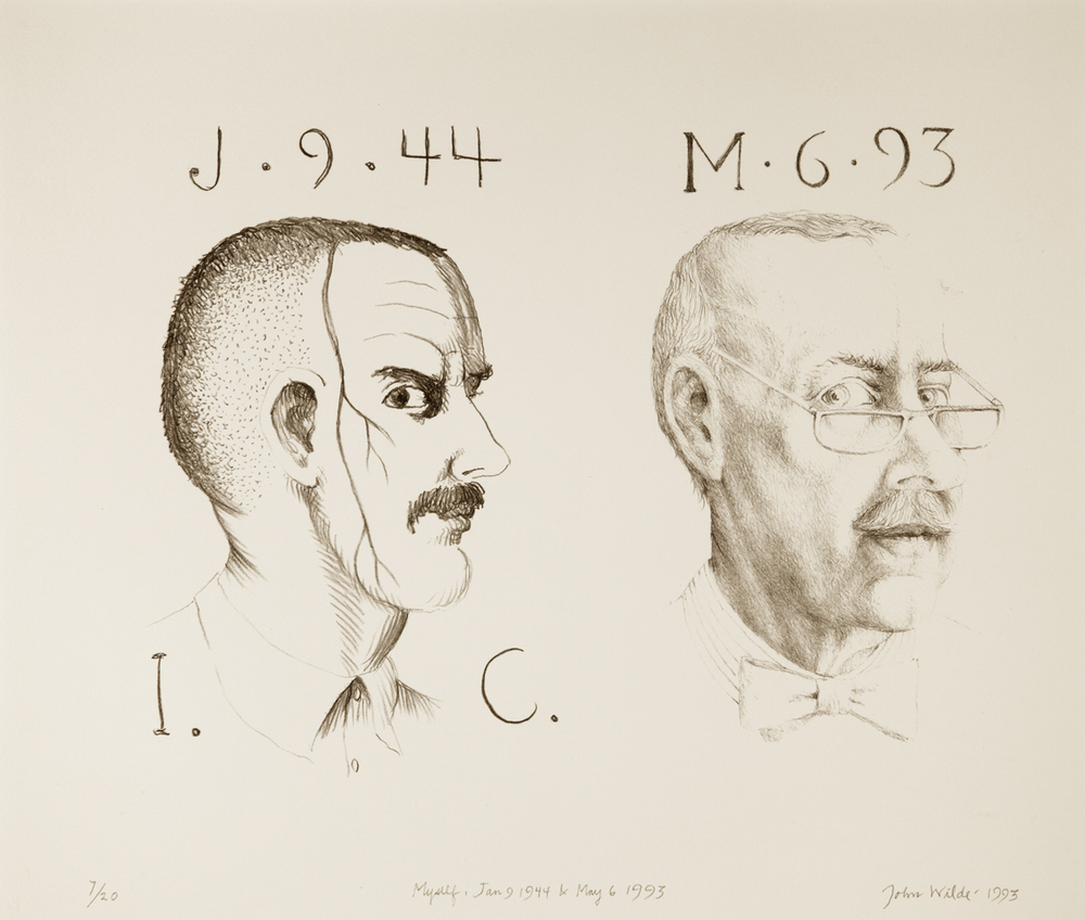 MYSELF, JAN. 9, 1944 AND MAY 6, 1993, Ed. of 20, Lithograph, 14 x 16 1/2""