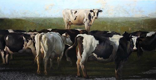 """Craig Blietz, """"Incline,"""" oil on linen, 35 x 67 in. (c) Craig Blietz 2016"""