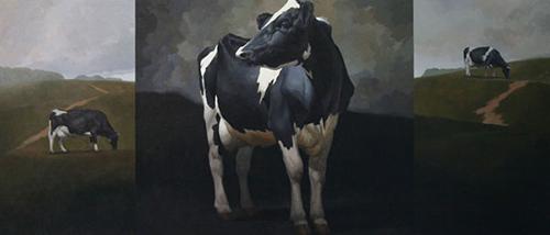 "Craig Blietz, ""Overcast,"" acrylic on muslin on panel, 60 x 140 in. (c) Craig Blietz 2016"
