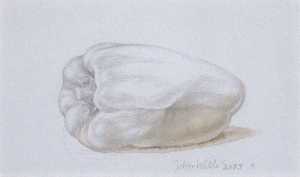 "PEPPER, LADY BELL 4, 2003, Silverpoint and Watercolor, 5 1/2 x 9"" framed 10 x 13 1/4"""
