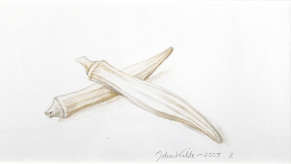OKRA ANNIE OAKLEY, 2003, Silverpoint with Wash, 4 1/2 x 8 1/2""