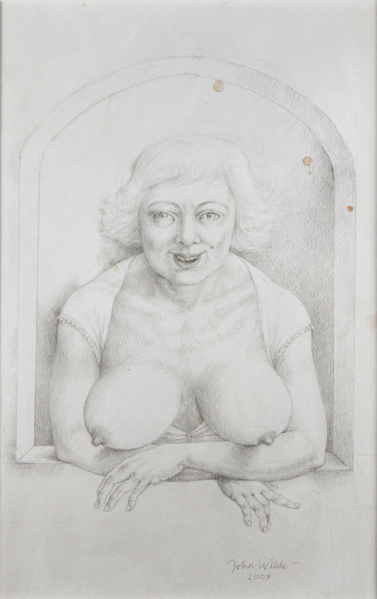 """HI THERE"", 2003, Silverpoint, 13 x 8 1/2"""