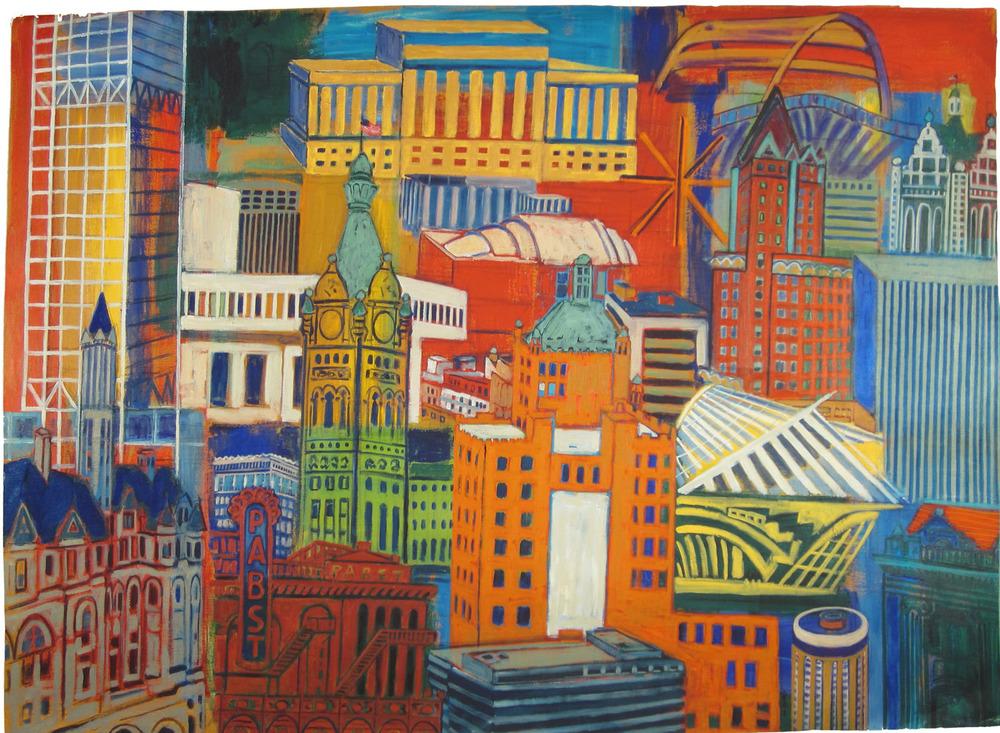 "MILWAUKEE MONTAGE, Giclee Print, 36 x 50"""