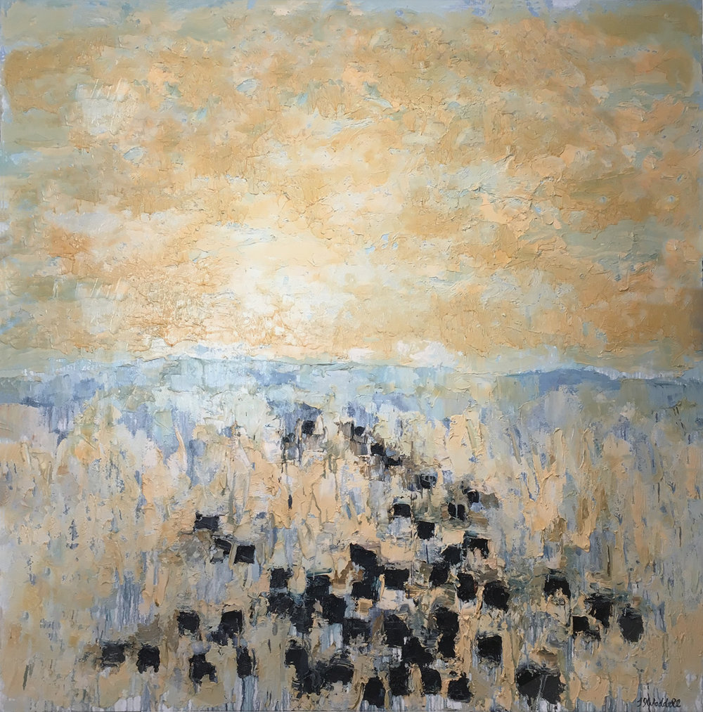 MONIDA ANGUS #17, Oil on Canvas, 72 x 72""