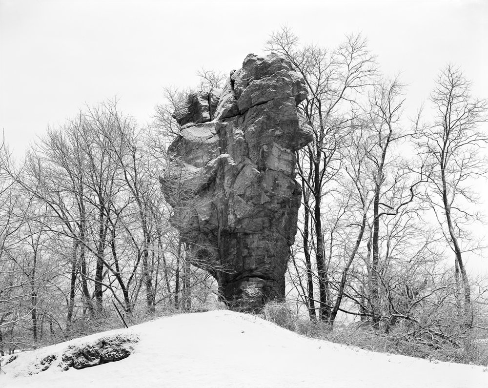 "MONUMENT ROCK, Digital Silver Gelatin Print, 20 x 25"""