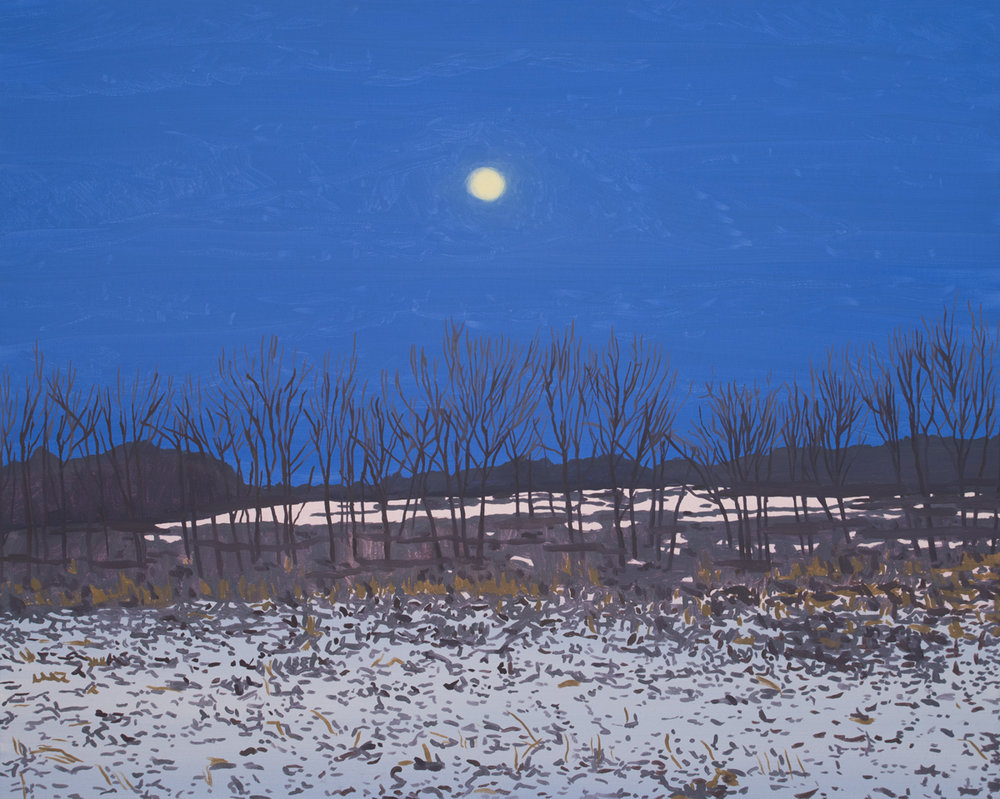 MOON HUNTING LANDSCAPE, Oil on Canvas, 16 x 20""