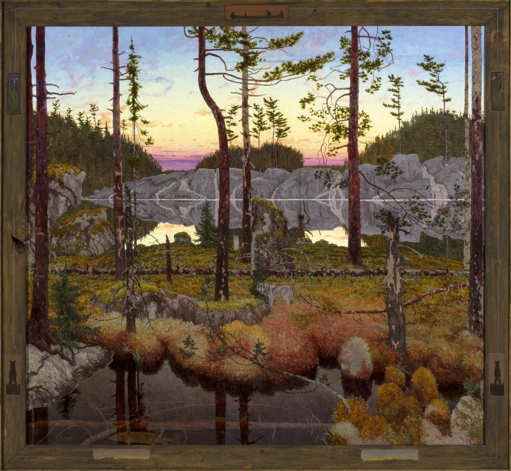 NIN MAMAKADENDAN (980), Oil on Linen, 66 3/4 x 72""