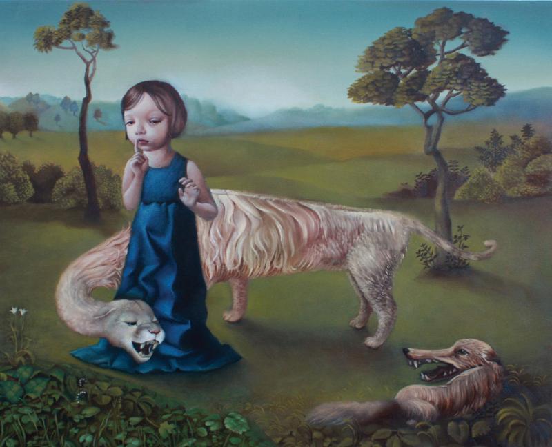 Aniela Sobieski - Hush - oil on panel- 16x20-w.jpg