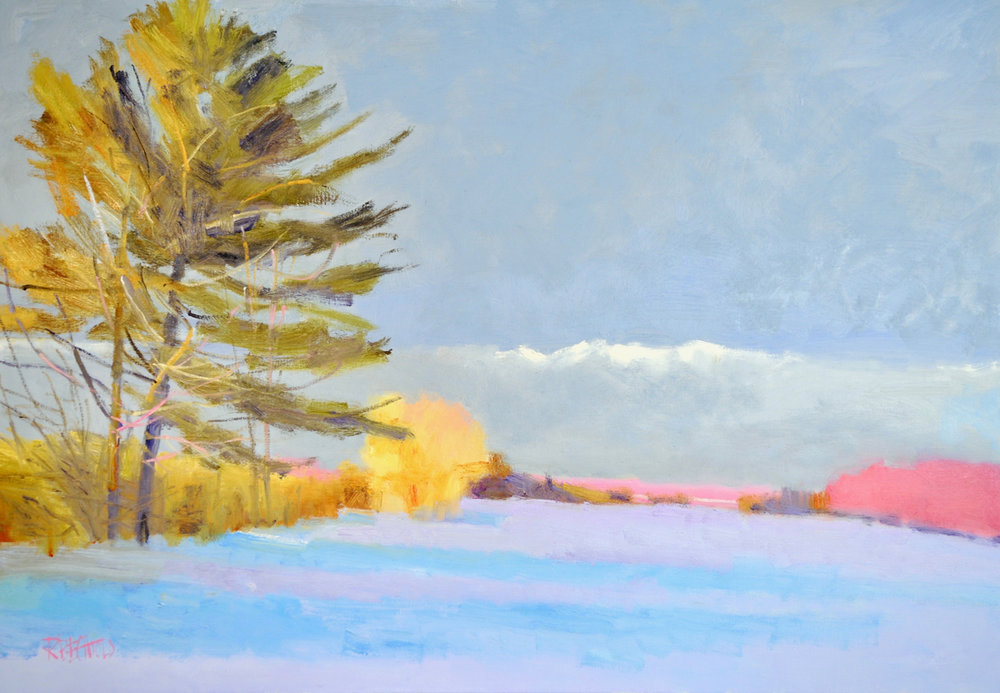 SNOW SHADOWS, Oil on Linen, 36 x 52""