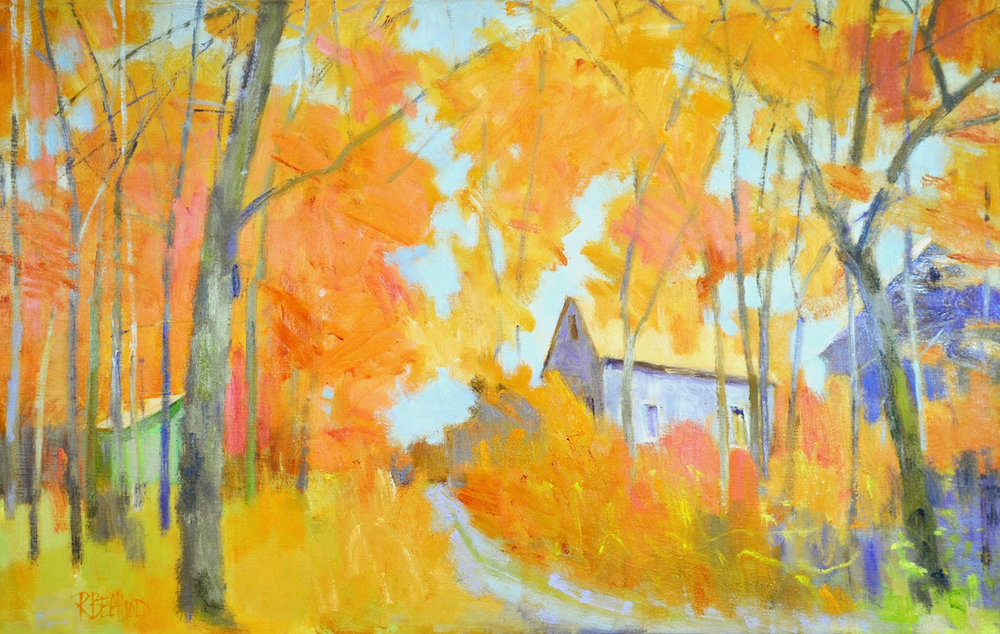 FOLIAGE THE COLORS OF AUTUMN, Oil on Linen, 28 x 44""