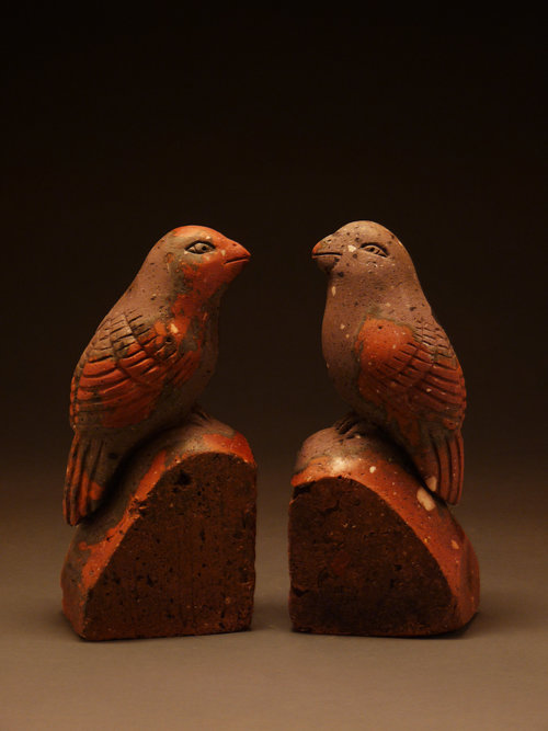 BIRDS, Carved Vintage Bricks - $650 each