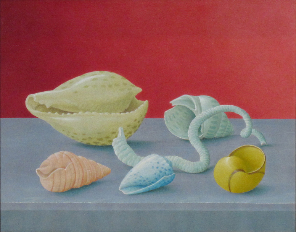 """SHELL II (FROM THE SEA), 1987, Oil on Panel, 7 3/4 x 9 3/4"""""""