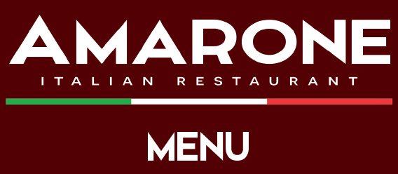 Amarone Restaurant Menu