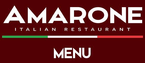 Amarone Restaurant Menu