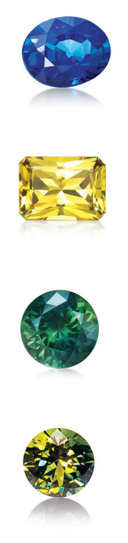 Australian Sapphires - Blue Sapphires, Yellow Sapphires, Green Sapphires and Parti Sapphires