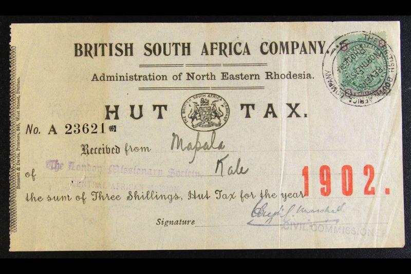 Hut belasting in Rhodesia. Foto via iMGSRC.