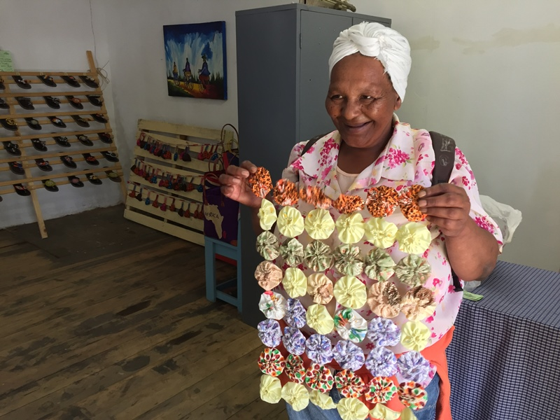 Flora Tytu hope to sell her crafts at the Ghetto Art Gallery.