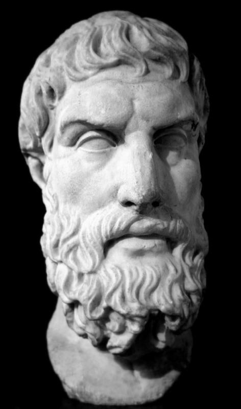 Epikurus. Foto via Wikipedia.