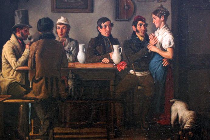 1833 Neder Im Gasthof anagoria deur Johann Michael Neder.