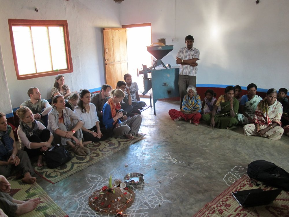 Participants meet with villagers, farmers, and small-scale processors in India (Image: WFSC)