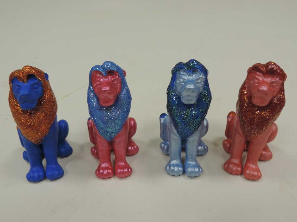 Four plaster lions -  Ljónatan   2014