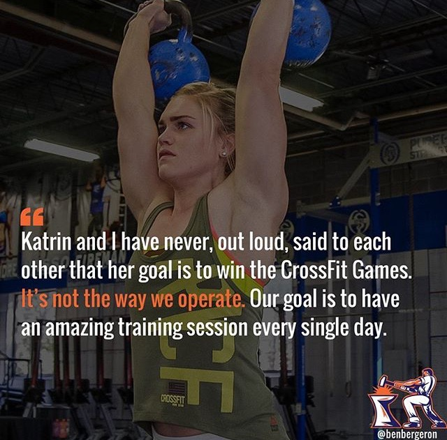 Coach Ben Bergeron talking about working with the CrossFit games champion Katrin Davidsdottir